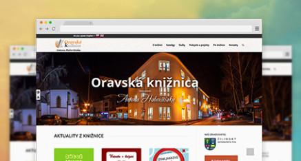 Webstránka pre Oravskú knižnicu