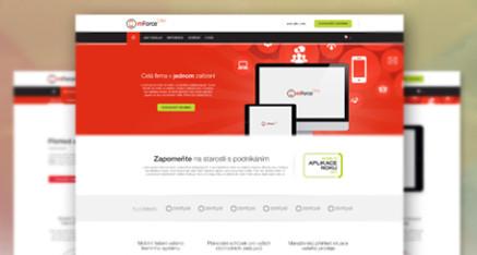 Redesign webstránky pre mForce Crm