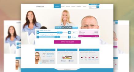 Redesign webovej stránky CreditOne