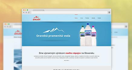 Web stránka pre nealko Oravan