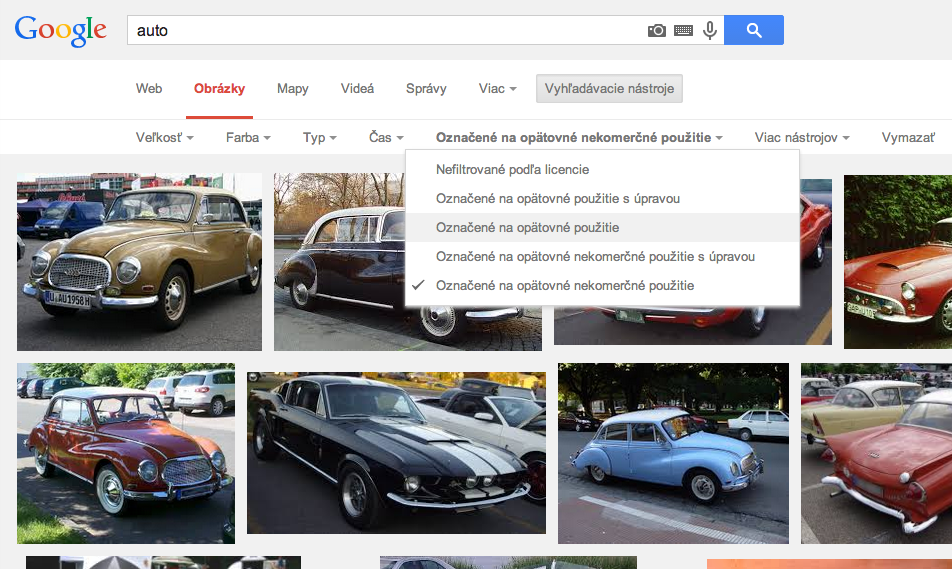 Googlenie obrázkov zadarmo screen