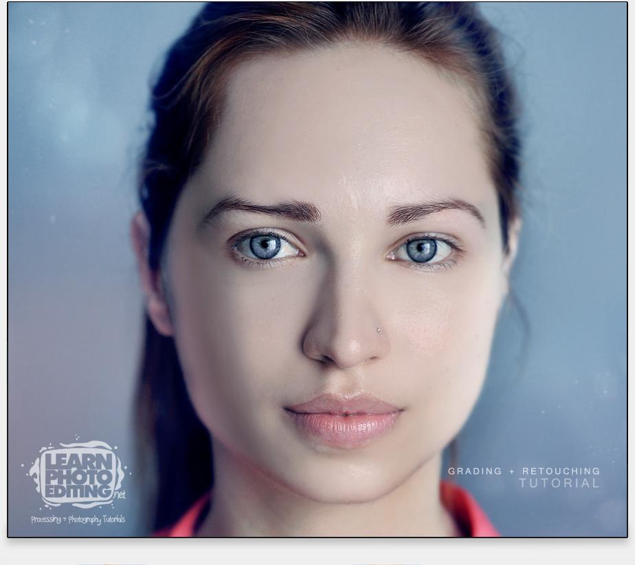 portrét ženy - photoshop návod