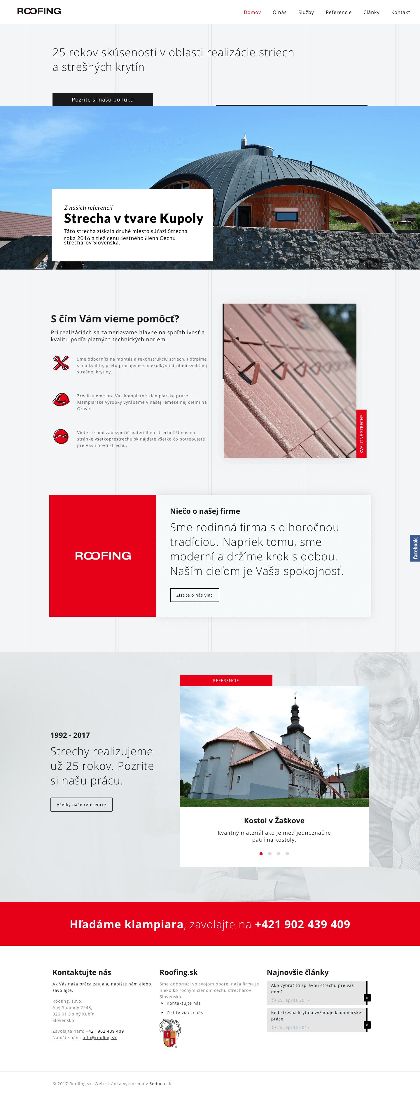 Roofing.sk - webstranka na wordpress - 1