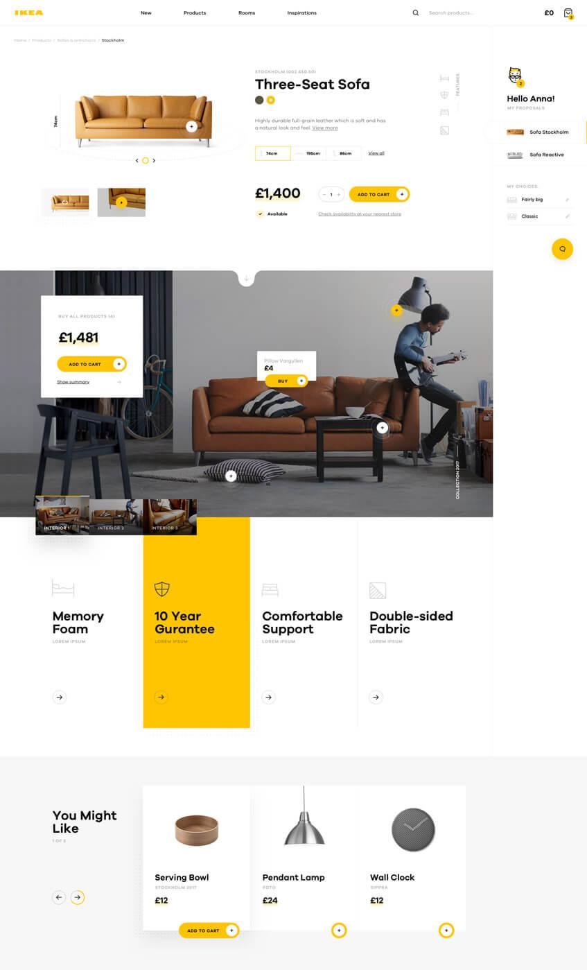 Redesign koncept - IKEA (dribble - Michal Parulski)