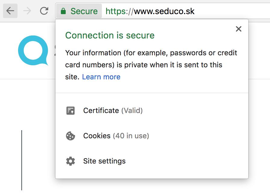 HTTPS - zabezpečenie - Seduco