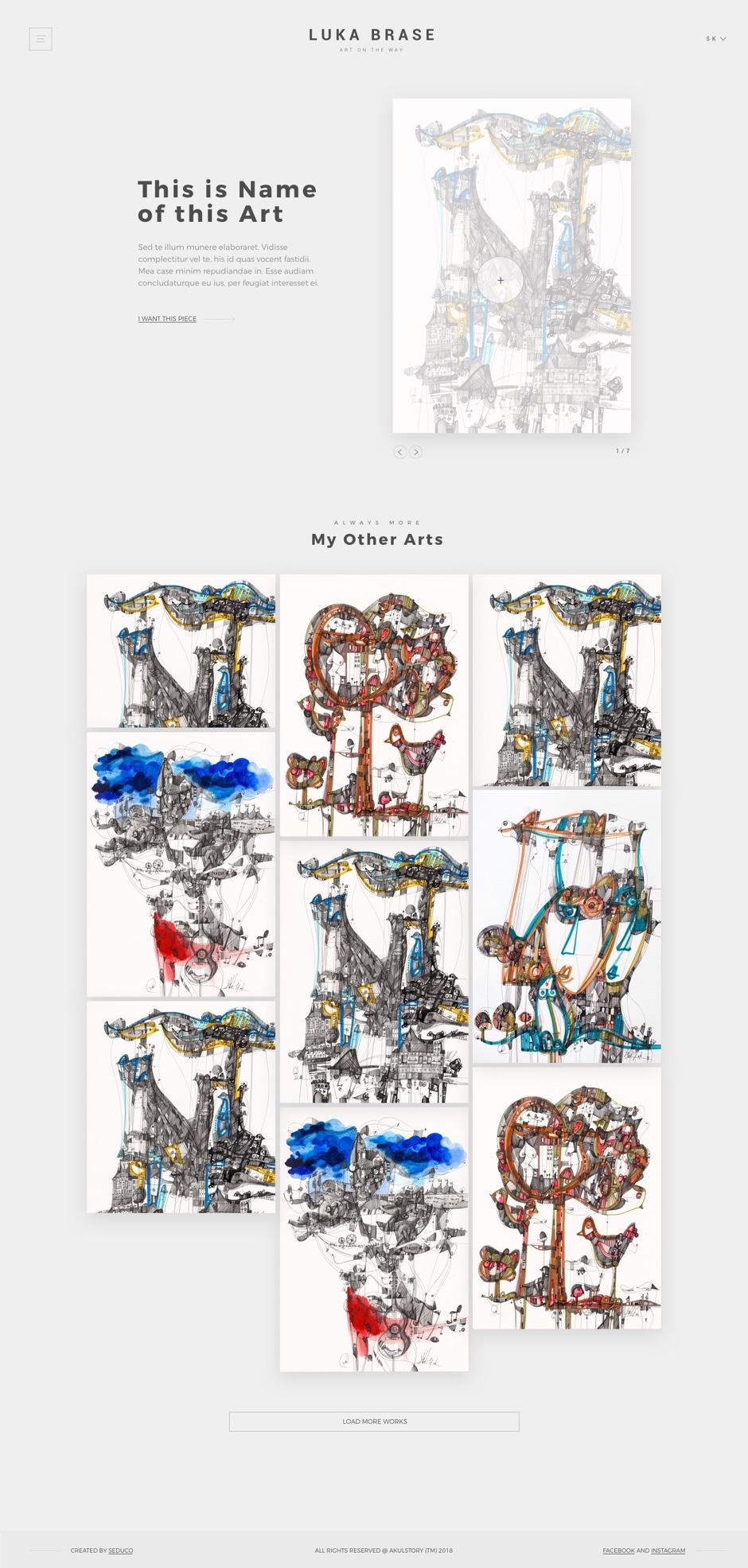 UX/UI design - Luka Brase - Detail Work