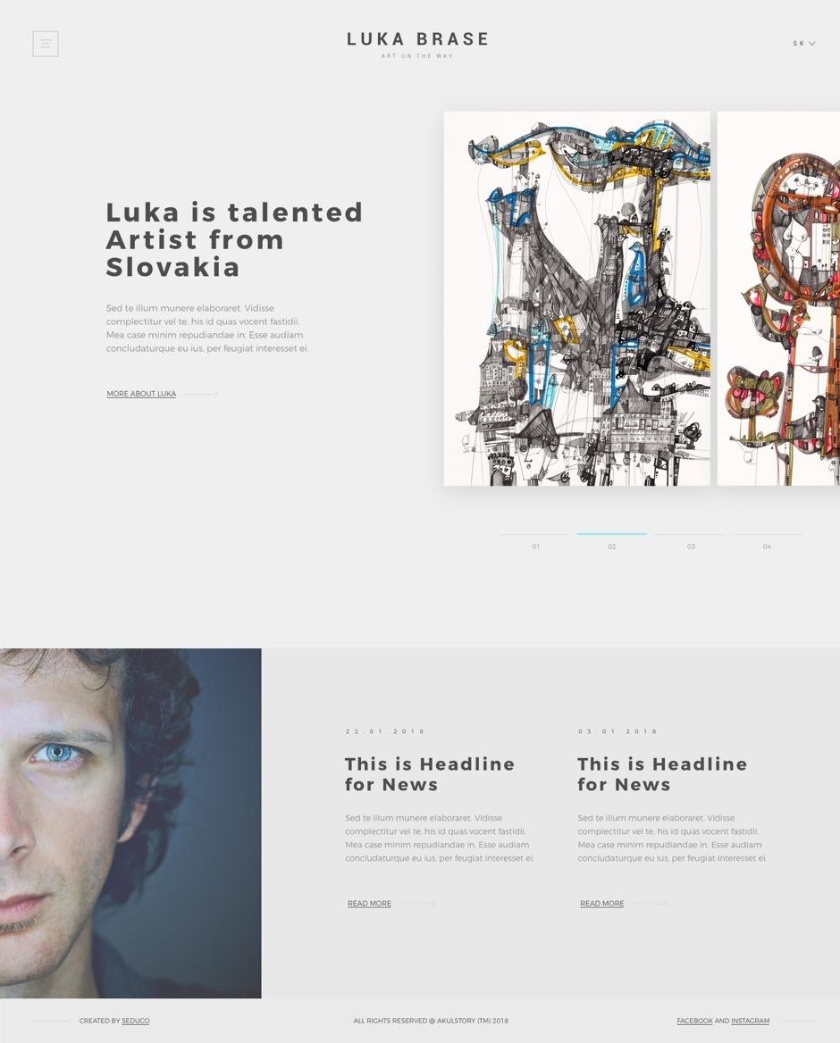 UX/UI design - Luka Brase - Homepage