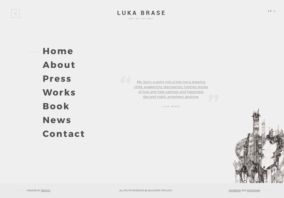 UX/UI design - Luka Brase - Main Menu
