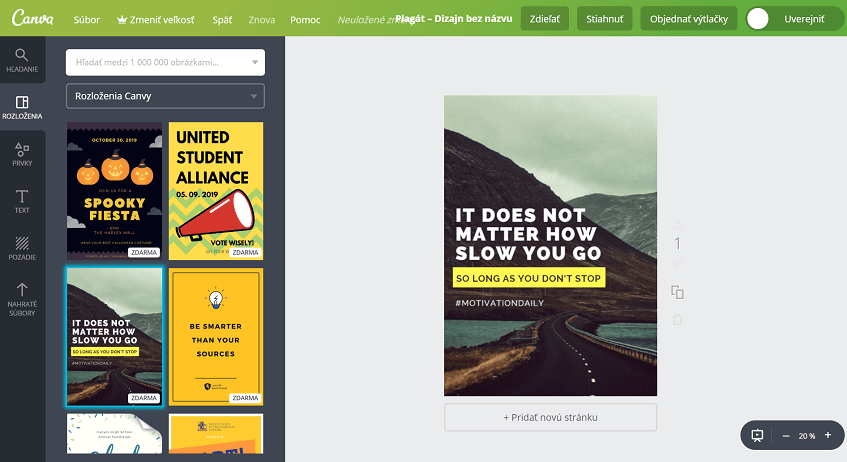 nástroj obsahového marketingu canva
