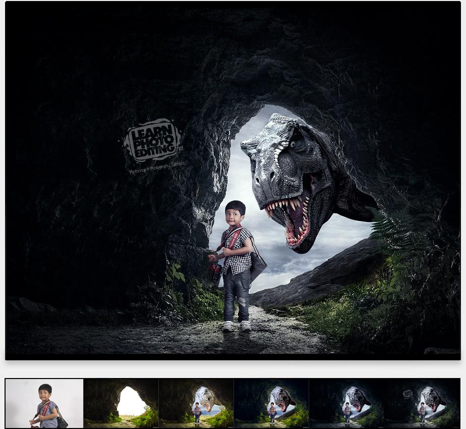 dinasaur - photoshop návod