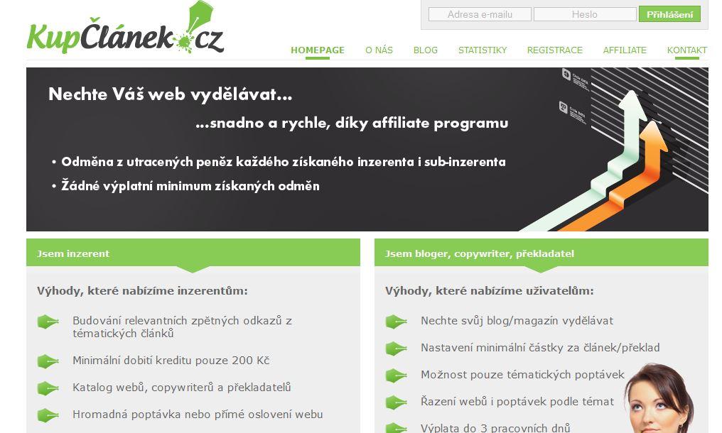 Pay per post systém KupClanek.cz