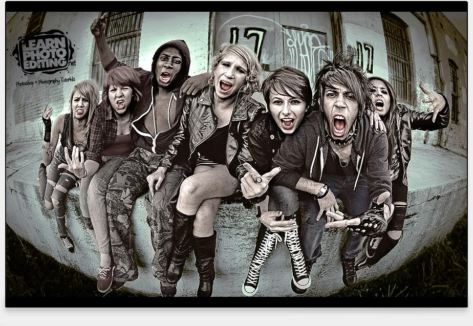 punk - photoshop tutoriál
